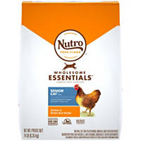 Nutro Natural Choice Chicken & Whole Brown Rice Indoor Senior Cat Food