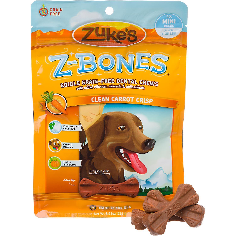 Zuke's Z-Bones Edible Grain Free Mini Dog Dental Chews
