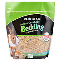 eCOTRITION Natural Corn Cob with Nature's Miracle Small Animal Bedding