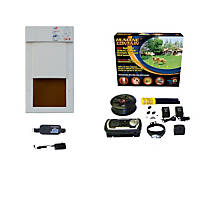 High Tech Pet Humane Contain X-10 In Ground Pet Fencing System with Power Pet PX-1 Pet Door
