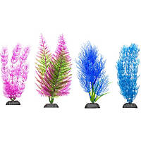 Petco Colorful Plastic Aquarium Plants Midground Value Pack