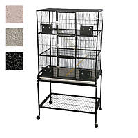 A&E Cage Company 3 Level Small Animal Cage with Removable Base in Platinum