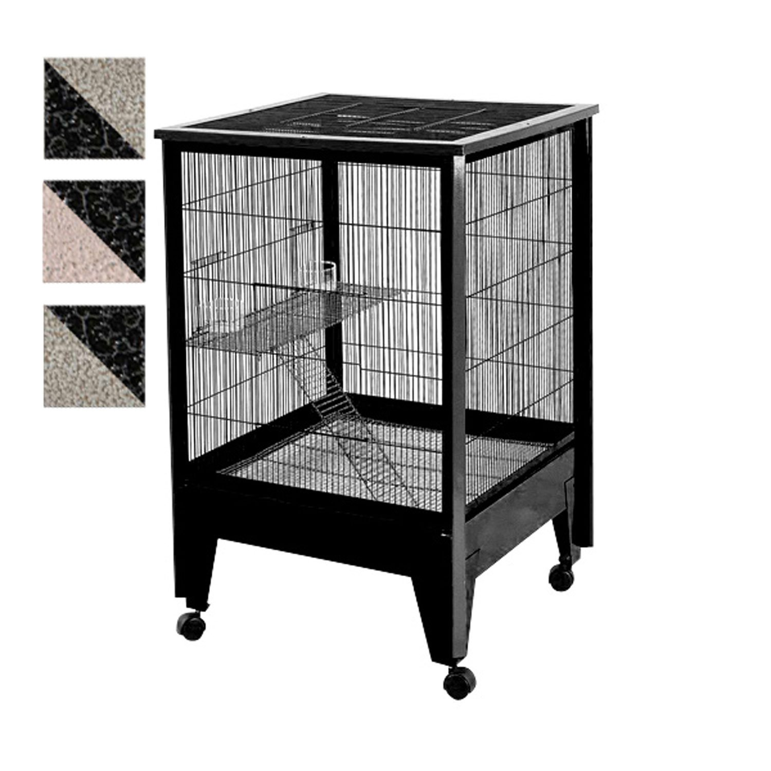 A&E Cage Company 2 Level Small Animal Cage on Casters in Black