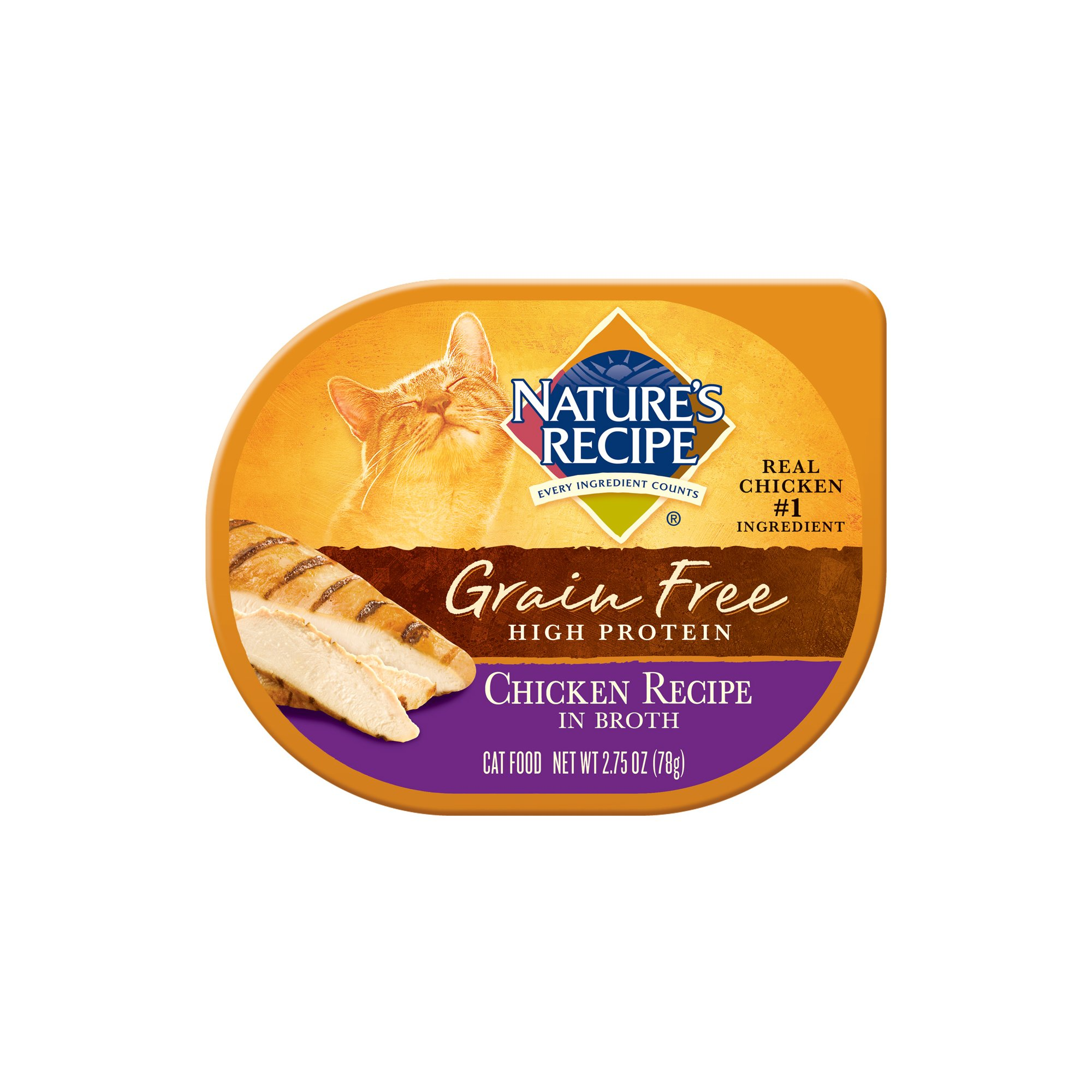 Nature's Recipe Grain Free Chicken Adult Cat Food Trays