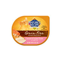Nature's Recipe Grain Free Chicken & Salmon Adult Cat Food Trays