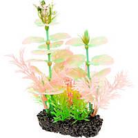 Penn Plax Aqua Plant Small Glow-Pod Plastic Aquarium Plant in Green & Pink