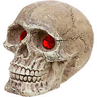 Penn Plax Skull Gazer with Jewel Eyes Aquarium Ornament