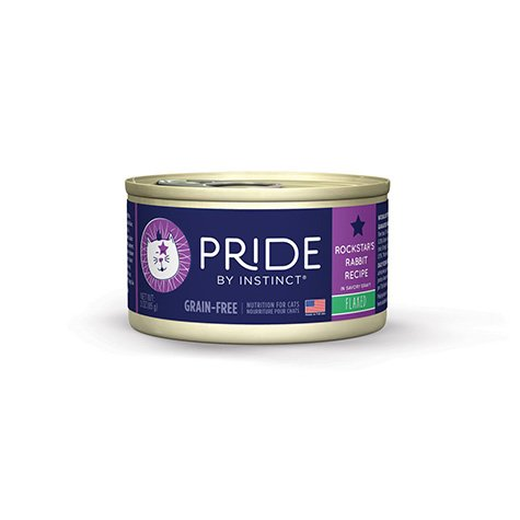Nature's Variety Pride by Instinct Grain-Free Flaked Rockstar's Rabbit Canned Cat Food