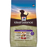 Hill's Ideal Balance Chicken & Brown Rice Mature Adult Dog Food