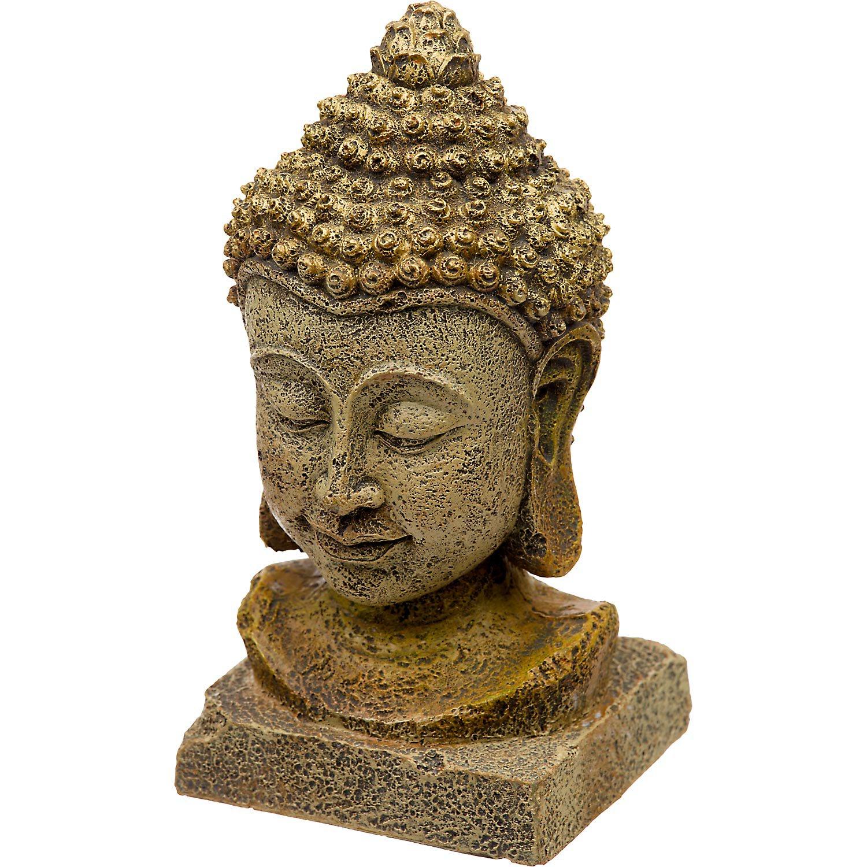 Blue Ribbon Thai Buddha Head Aquarium Ornament