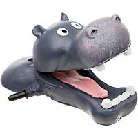 Blue Ribbon Hippo Head Bubbler Aquarium Ornament