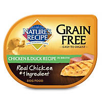 Nature's Recipe Grain Free Adult Dog Food Trays, Chicken & Duck