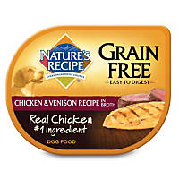 Nature's Recipe Grain Free Adult Dog Food Trays, Chicken & Venison