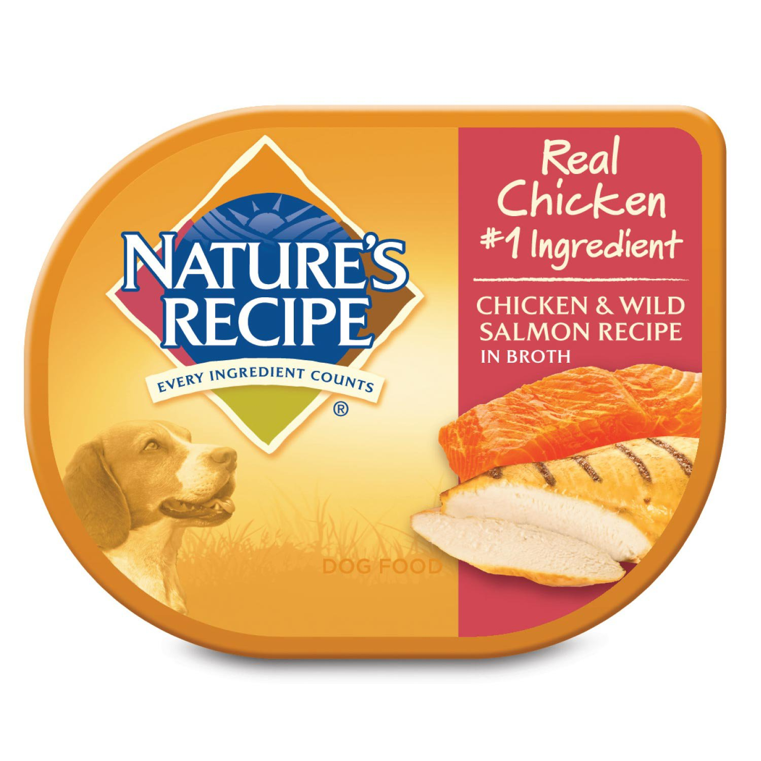 Nature's Recipe Adult Dog Food Trays, Chicken & Salmon