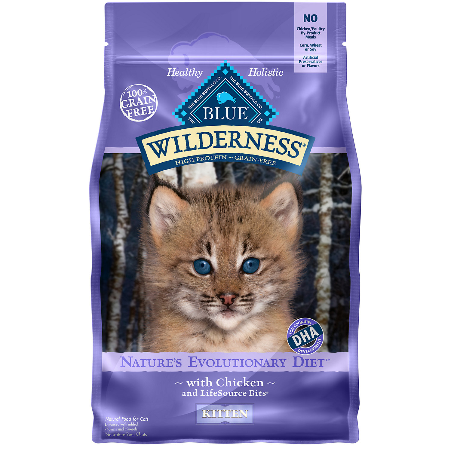 Blue Buffalo Wilderness Grain-Free Kitten Food, 5 lbs.