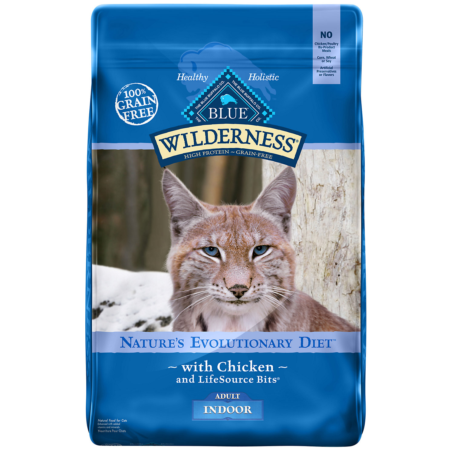 Blue Buffalo Wilderness Indoor Chicken Adult Dry Cat Food, 1