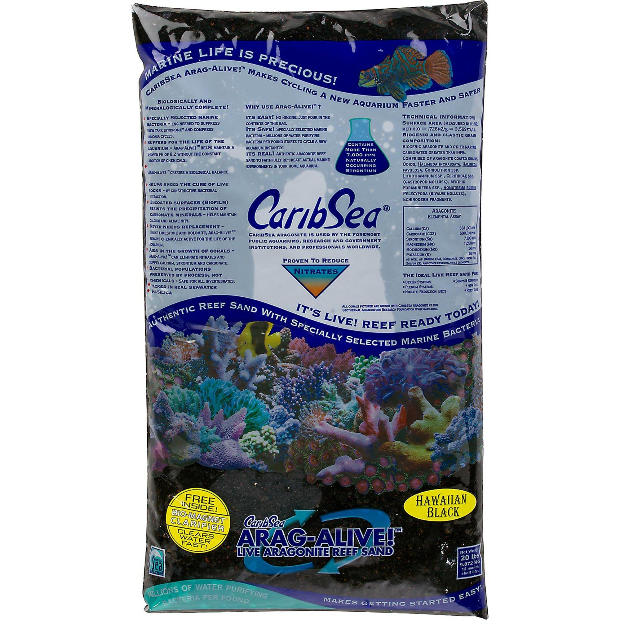 CaribSea Arag-Alive Hawaiian Black Aquarium Gravel