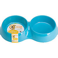 Bowlmates by Petco Large Double Round Base in Blue