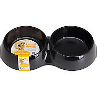 Bowlmates by Petco Large Double Round Base in Black