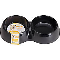 Bowlmates by Petco Medium Double Round Base in Black