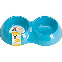 Bowlmates by Petco X-Small Double Round Base in Blue