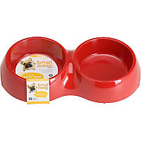 Bowlmates by Petco Small Double Round Base in Red