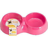 Bowlmates by Petco Small Double Round Base in Pink