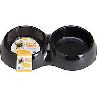 Bowlmates by Petco Small Double Round Base in Black