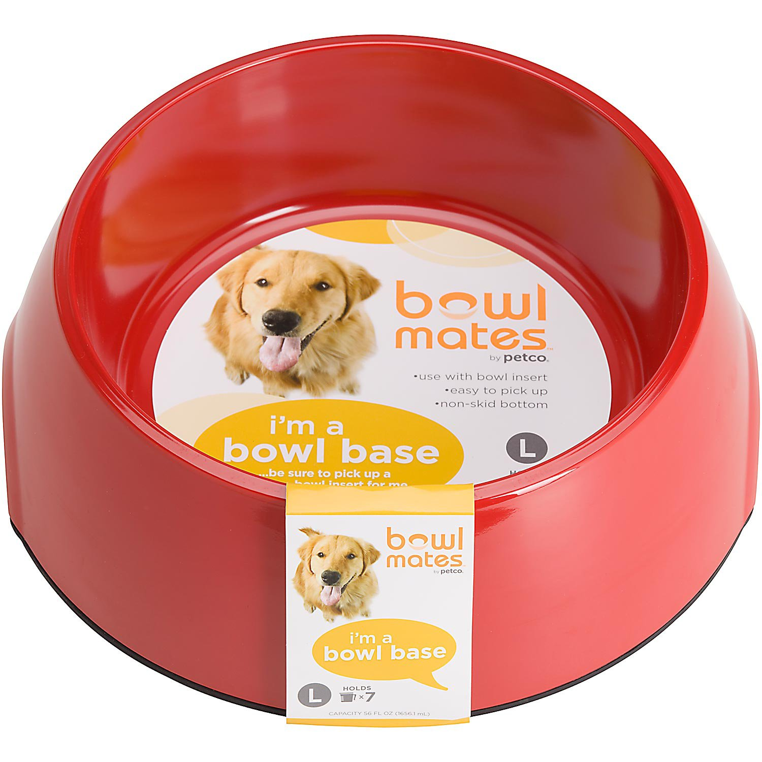 Bowlmates by Petco Large Round Base in Red