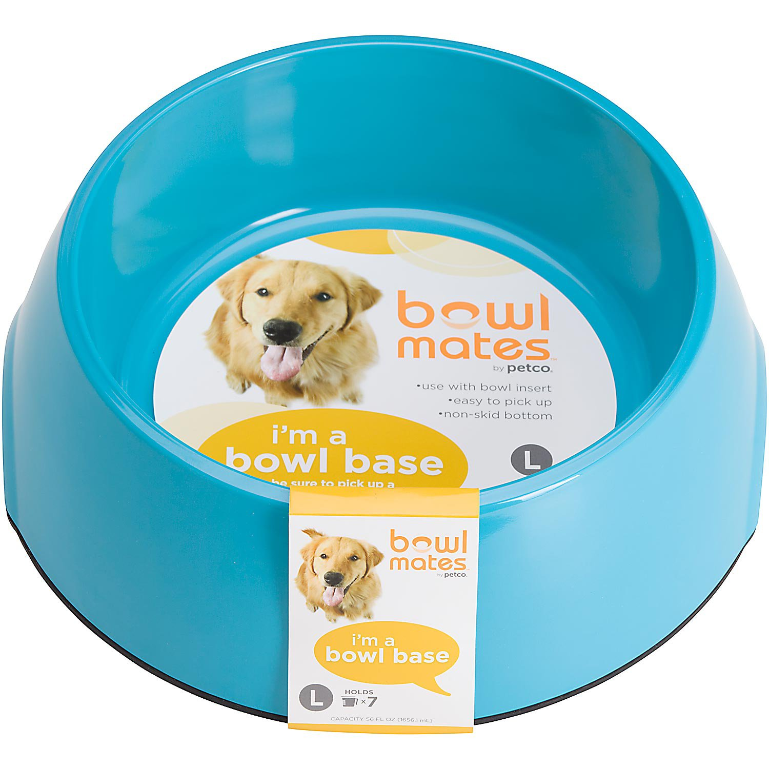 Bowlmates Single Round Base in Blue