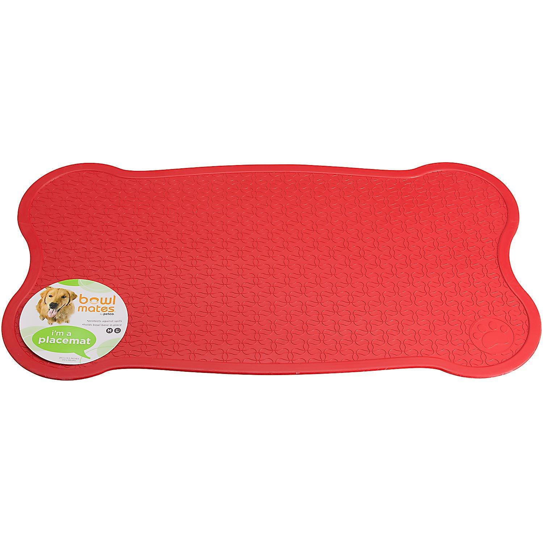 Bowlmates Red Bone Placemat, Medium/Large