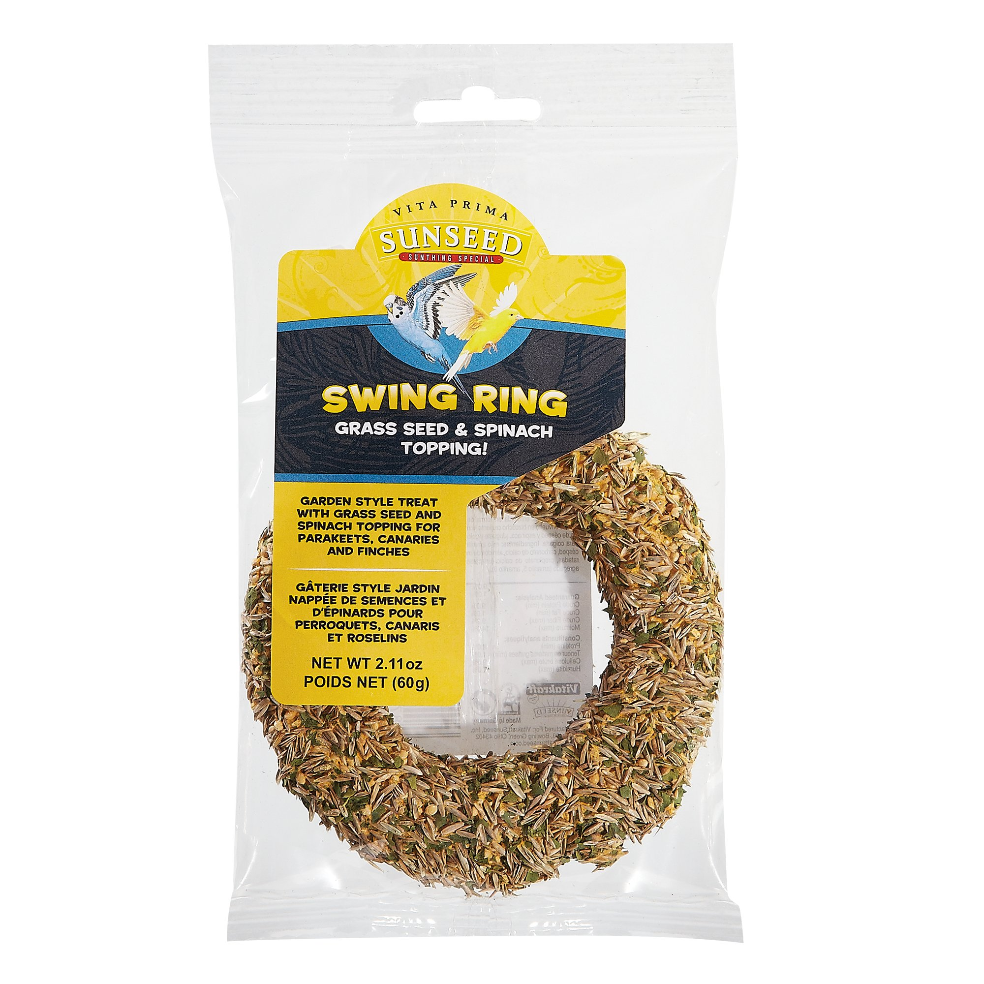 Vitakraft Vita Prima Sun Seed Swing Ring for Parakeets, Canaries & Finches