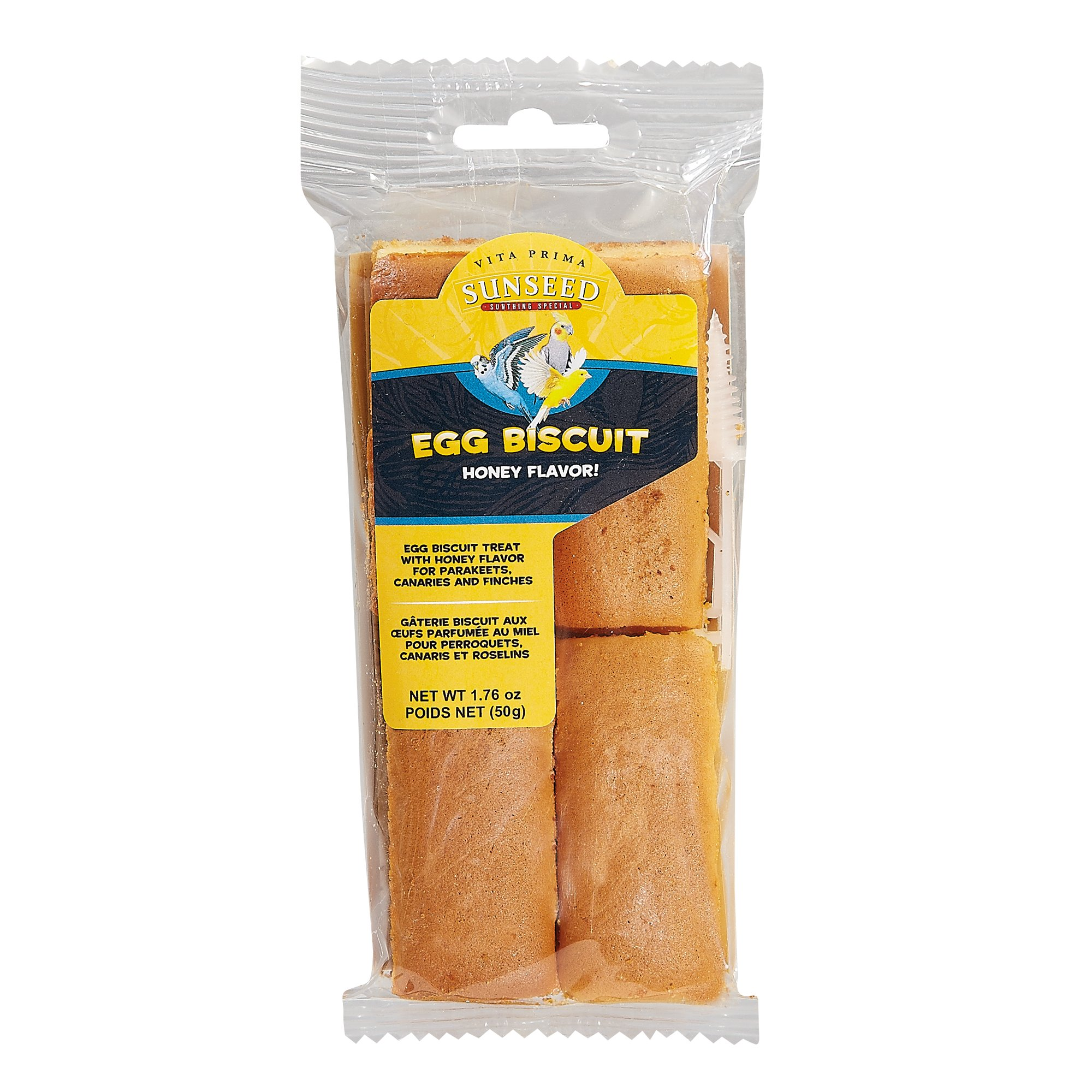 Vitakraft Honey Flavor Egg Biscuit Treats for Parakeets, Canaries & Finches