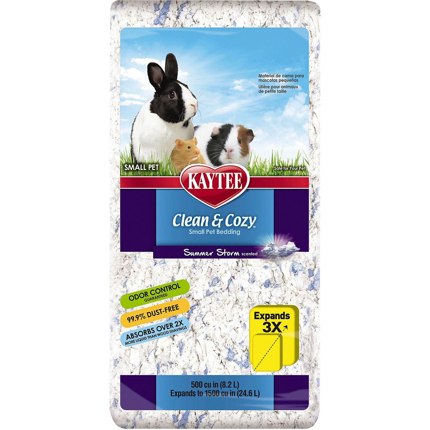 Kaytee Clean Cozy Summer Storm Scented Small Animal Bedding 500 Cu. In.
