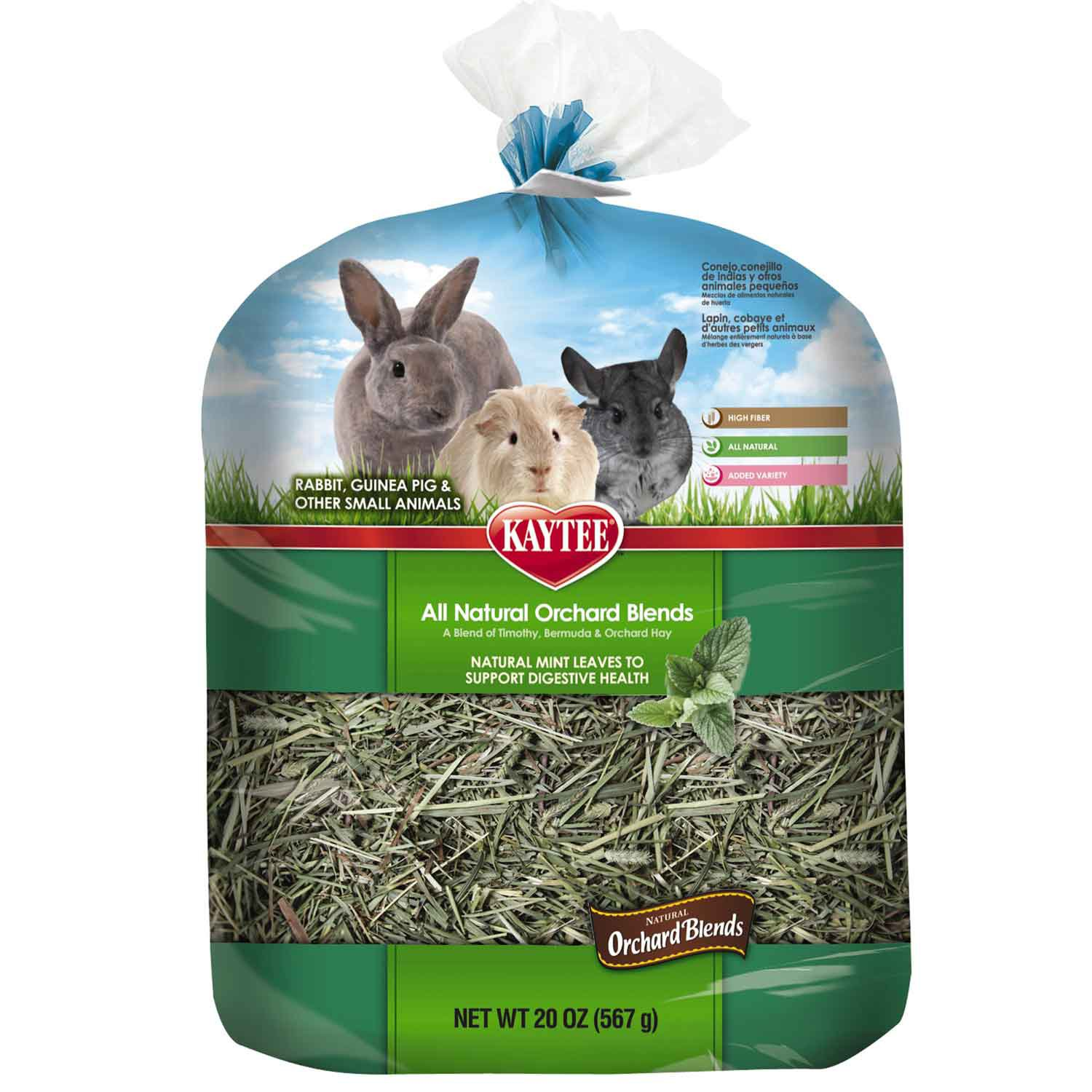 Kaytee All Natural Orchard Blends Digestive Health Hay for Small Animals