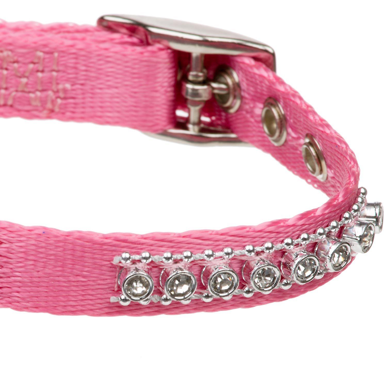 Petco Jeweled Nylon Dog Collar in Pink