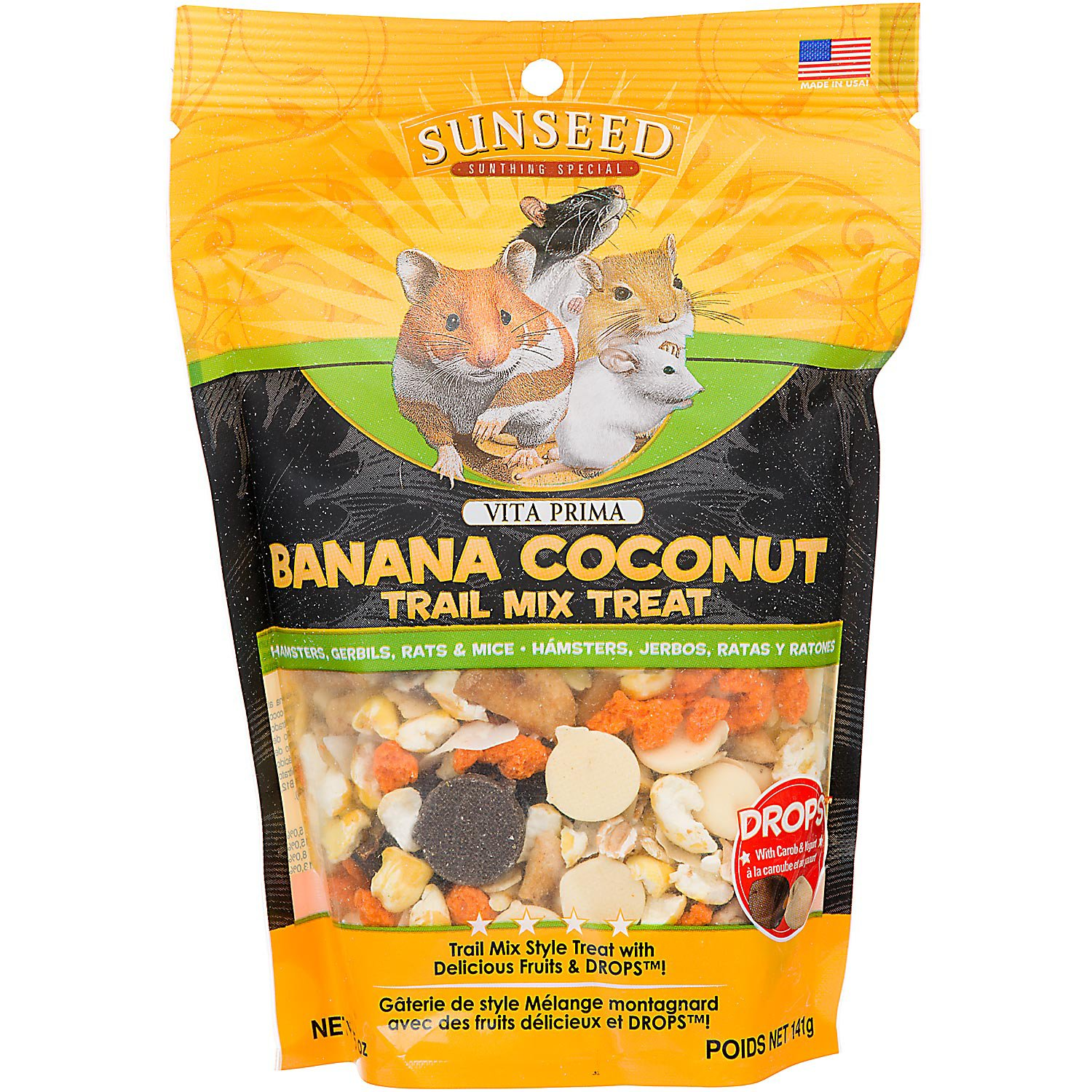 Vitakraft Vita Prima Banana Coconut Trail Mix Treat