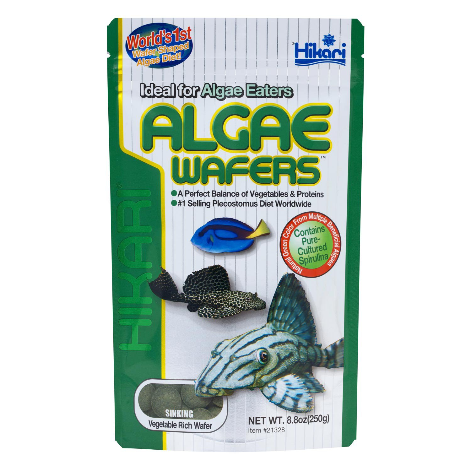 Hikari tropical algae wafers for bottom feeding for How to feed fish