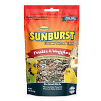 Higgins Sunburst Fruits & Veggies Gourmet Treats for Small Birds