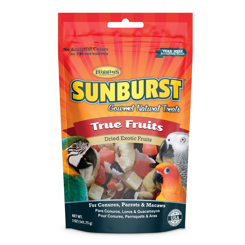 Higgins Sunburst True Fruits Gourmet Treats for Conures, Parrots & Macaws