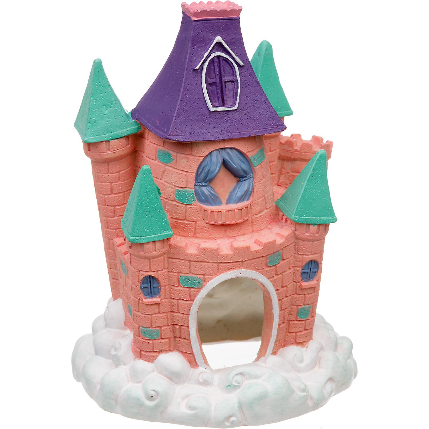 Blue Ribbon Pink Pixie Castle Aquarium Ornament