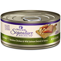 Wellness Signature Selects Grain Free Chunky White Meat Chicken & Wild Salmon Entree Canned Cat Food