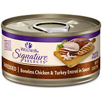Wellness Signature Selects Grain Free Shredded Entree Canned Cat Food, Chicken & Turkey