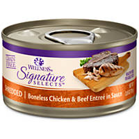 Wellness Signature Selects Grain Free Shredded White Meat Chicken & Beef Entree Canned Cat Food