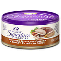 Wellness Signature Selects Grain Free Shredded White Meat Chicken & Turkey Entree Canned Cat Food