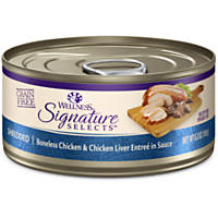 Wellness Signature Selects Grain Free Shredded Entree Canned Cat Food, Chicken & Chicken Liver