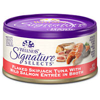 Wellness Signature Selects Grain Free Flaked Skipjack Tuna with Wild Salmon Entree Canned Cat Food
