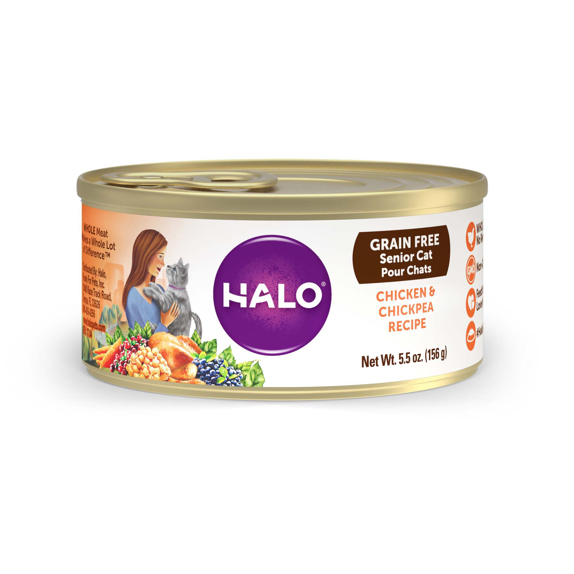 Halo Spot's Choice Grain Free Shredded Chicken Canned Cat Food