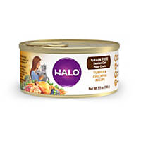 Halo Spot's Choice Grain Free Shredded Turkey Canned Cat Food
