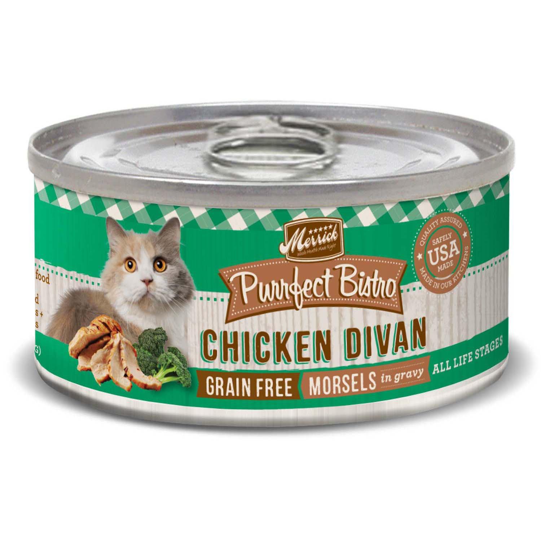 Merrick Purrfect Bistro Grain Free Chicken Divan Canned Cat Food